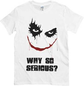 tshirt joker e smile scritta why so serious maglietta