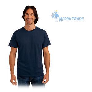 T-Shirt-T-Shirt-Tshirt-T-Shirts-100-Baumwolle-Stedman-Dunkelblau-Gr-S-XXXL-NEU