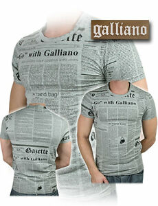 T-shirt John Galliano 100% Originale maglietta Men Uomo Man New Collection