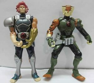 Lion Tygra on T442 Lot Of 2 Thundercats Lion O Tygra Bandai Action Figure Loose A