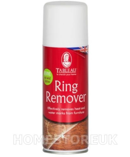 Tableau ring remover heat water mark cleaner spray for for Wood floor wax remover