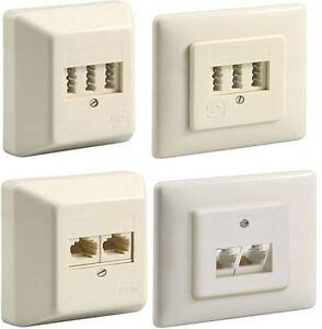 tae nff 3x6 oder isdn uae 2x8 8 aufputz unterputz telefondose von goobay neu ebay. Black Bedroom Furniture Sets. Home Design Ideas