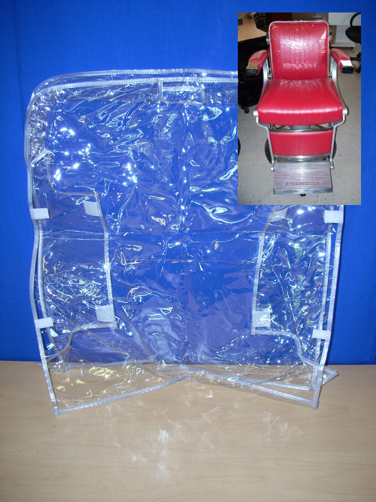belmont bb225 barber custom chair plastic chair back cover clear