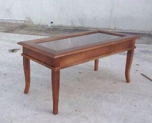 Tavolino bacheca basso arte povera in legno da salotto - Mobile basso arte povera ...