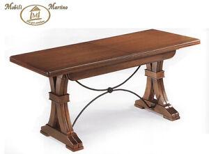 Tavolo arte povera allungabile da cucina colore noce tavoli sedie classico ebay - Tavolo allungabile classico ...