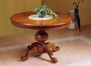 Tavolo rotondo allungabile soggiorno tinello in legno ebay - Tavolo rotondo allungabile legno ...