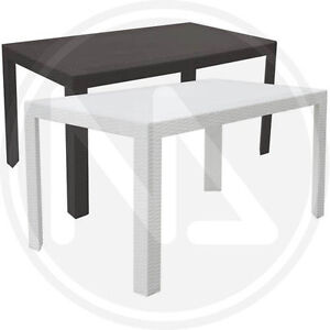 Tavolo tavoli da giardino veranda in simil rattan made in - Tavolo da giardino rattan ...