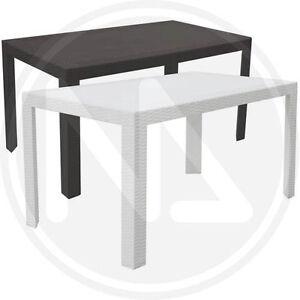 Tavolo tavoli da giardino veranda in simil rattan made in italy 140x80x72h ebay - Tavolo in rattan da giardino ...