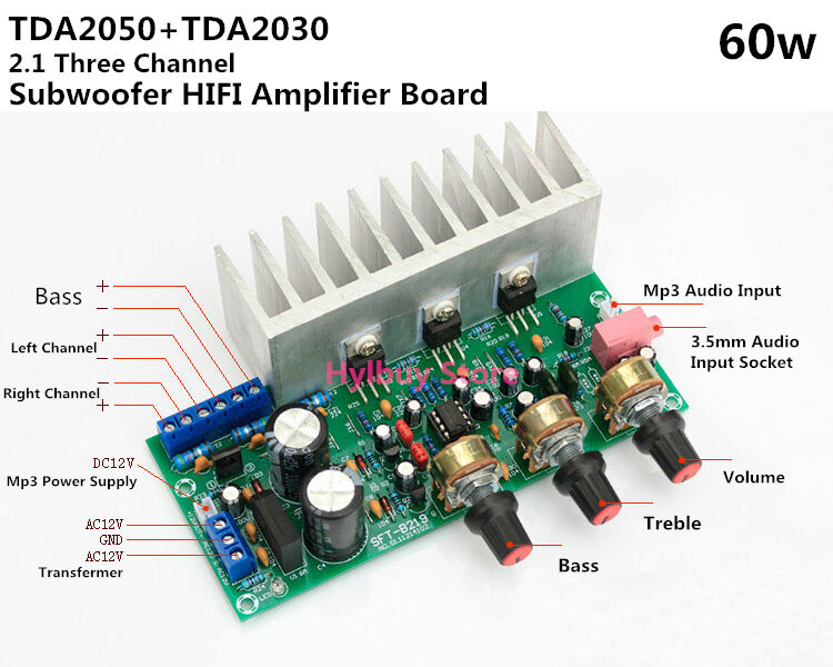 tda2050a tda2030a ne5532 2.1 bass subwoofer audio