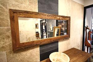 Teak spiegel 160x70 roh wandspiegel spiegel altholz for Spiegel 140x80