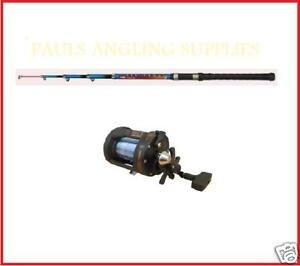 Telescopic Fishing  on Telescopic   Travel Boat Fishing Rod   Multiplier Reel   Ebay