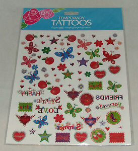 TEMPORARY-TATTOOS-MIXED-DESIGNS-EASY-TO-APPLY-SHEET-SIZE-21-X-23CM