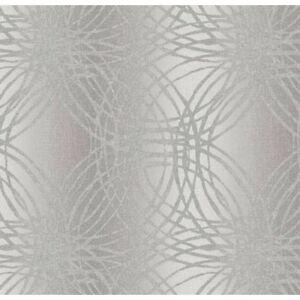 textured silver metallic circles vinyl designer feature