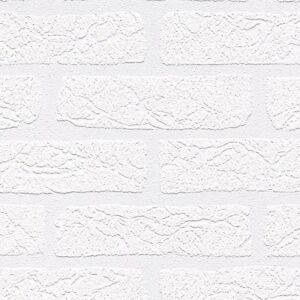 White Brick Wallpaper Design TEXTURED WHITE BRICK E...