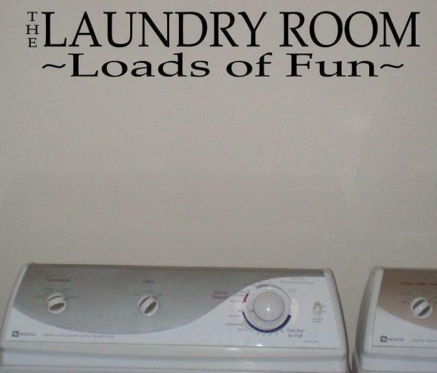 The Laundry Room Vinyl Wall Lettering Sayings Home Decor Quotes Art