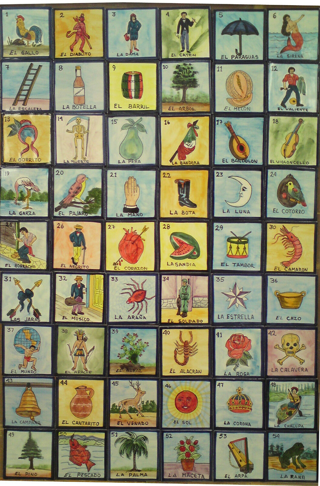 Mexican Hand Painted Tile Murals