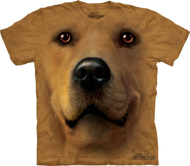 The Mountain Golden Retriever Dog Face Pet T Shirt M