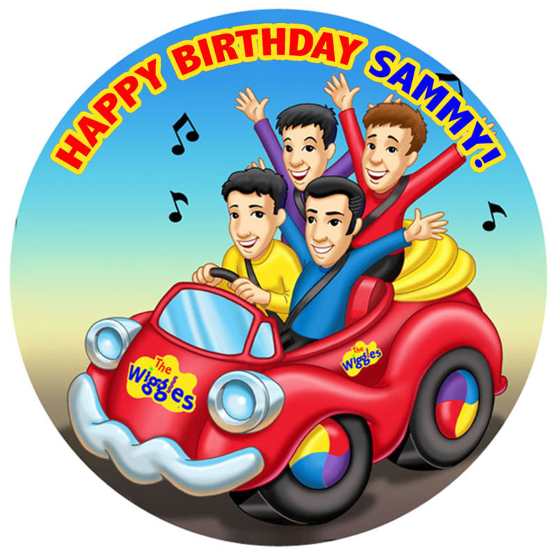The Wiggles Edible Icing Birthday Cake Topper Circle on ...