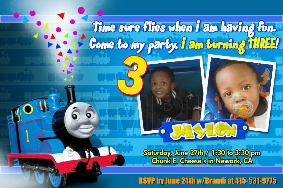 THOMAS THE TANK TRAIN 1ST BIRTHDAY PARTY INVITATION C5 CARDS