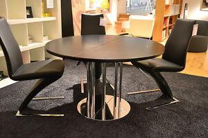 thonet esstisch s1047 platte buche schwarz ausziehbar ebay. Black Bedroom Furniture Sets. Home Design Ideas