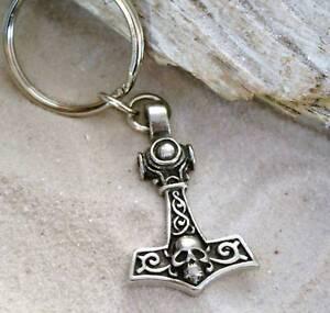 THORS HAMMER MJOLNIR SKULL Pewter KEY CHAIN Key Ring in Collectibles, Pez, Keychains, Promo Glasses, Keychains | eBay