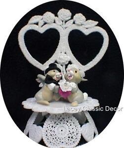 Wedding Cake Topper Bunny