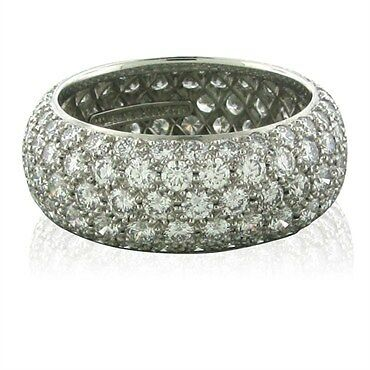 Tiffany Amp Co Etoile Five Row Platinum Diamond Band Ring