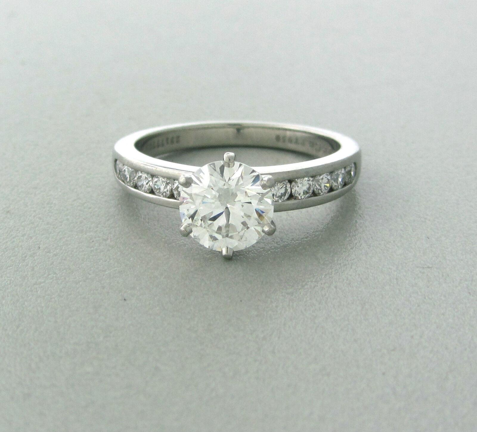 Tiffany & Co Platinum 1.50ct G/VS2 Diamond Engagement Ring