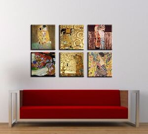 time4bild gustav klimt der kuss baum des lebens bilder leinwand giclee art kunst ebay. Black Bedroom Furniture Sets. Home Design Ideas
