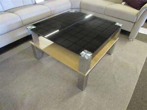 Tisch couchtisch callas p02 80x80 cm glas schwarz ablage for Couchtisch 80x80 glas