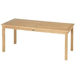 tl 8131 gartenm bel gartentisch holztisch tisch teak holz 120 x 80 cm fest neu ebay. Black Bedroom Furniture Sets. Home Design Ideas