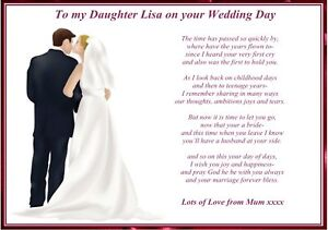 Wedding Quotes Poems And Daugther QuotesGram