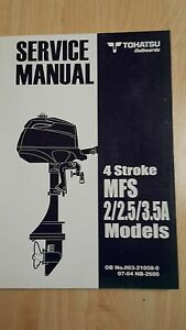 TOHATSU MFS2 MFS2.5 MFS3.5A SERVICE MANUAL OUTBOARDS AUSSENBORDER - <span itemprop='availableAtOrFrom'>Rostock, Deutschland</span> - TOHATSU MFS2 MFS2.5 MFS3.5A SERVICE MANUAL OUTBOARDS AUSSENBORDER - Rostock, Deutschland