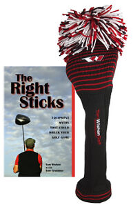 TOM-WISHON-GOLF-KNIT-FAIRWAY-WOOD-HEADCOVER-RED-BLACK