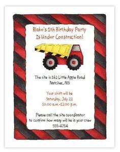 Tonka Truck Invitations Envelope 8ct Construction Birthday ...