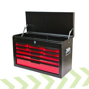 toolbox pro tool chest large steel 9 drawers lock box storage uk seller ebay. Black Bedroom Furniture Sets. Home Design Ideas