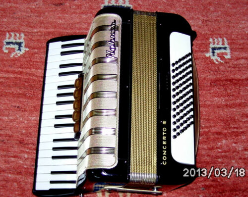 TOP !! HOHNER CONCERTO III ACCORDIAN ACCORDION 72 BASS Made in Germany in Musical Instruments & Gear, Accordion & Concertina | eBay