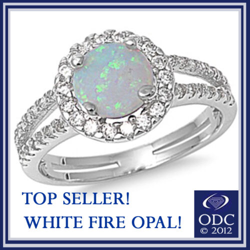 TOP SELLER! WHITE AUSTRALIAN FIRE OPAL .925 STERLING SILVER RING SIZES 5-10 in Jewelry & Watches, Fine Jewelry, Fine Rings | eBay