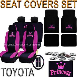 Pink Princess Car Seat Covers