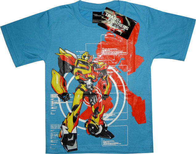 Transformers Bumblebee T Shirt Boys Girls Kids Childrens Shirts Clothes Tee Toys