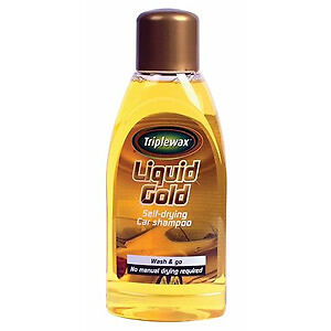 triple wax liquid gold self drying car shampoo wash go no drying needed 500ml ebay. Black Bedroom Furniture Sets. Home Design Ideas