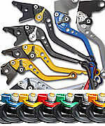 TRIUMPH 2000-2003 TT 600 PAZZO RACING LEVERS - ALL COLORS AND LENGTHS