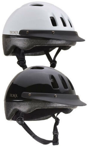TROXEL SPORT ♦ HORSE SCHOOLING RIDING HELMET ♦ BLACK AND WHITE IN XS S M L in Pet Supplies, Horse Supplies | eBay