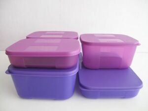 tupperware k hlschrank system lila 5 dosen boxen ebay. Black Bedroom Furniture Sets. Home Design Ideas