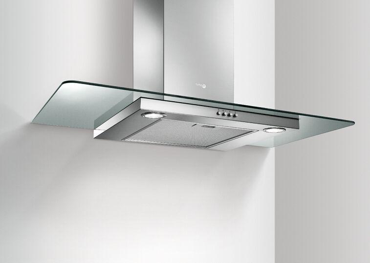 Turboair cappa cucina sempione inox vetro 90 aspirante for Cappa filtrante senza tubo