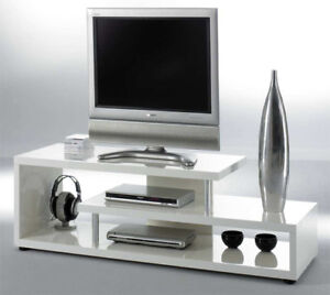 tv regal tv tisch fernsehregal twist hochglanz wei ebay. Black Bedroom Furniture Sets. Home Design Ideas