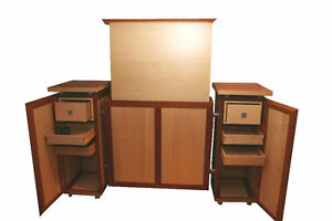 tv schrank liftsystem vollmassiv board lowboard rack m bel kirsche ahorn kommode ebay. Black Bedroom Furniture Sets. Home Design Ideas