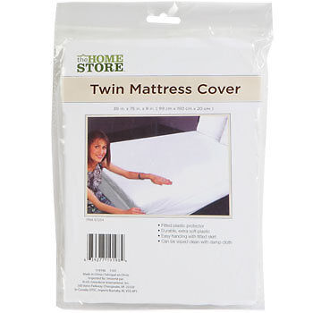 TWIN SIZE MATTRESS COVER Durable Extra Soft Plastic Fitted