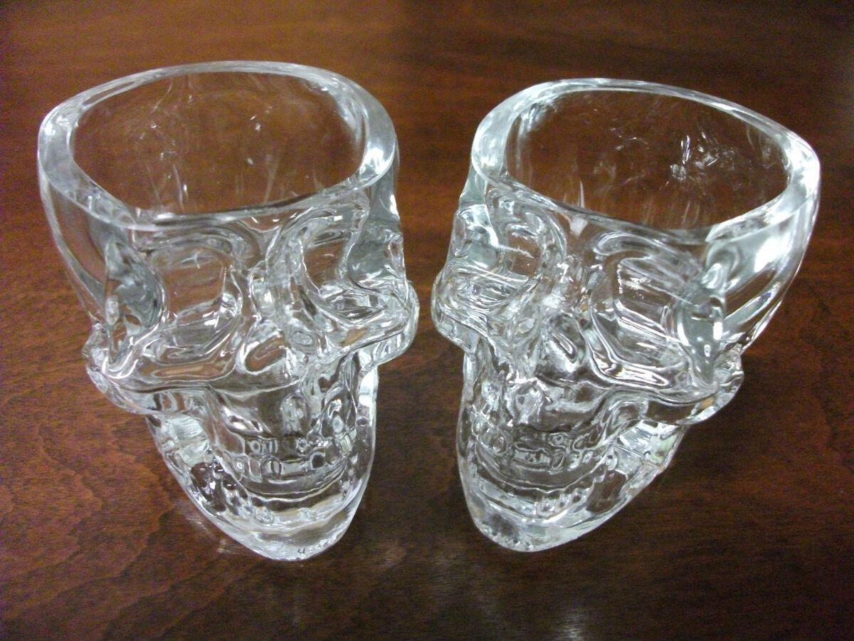 Crystal Head Vodka Skull Shot Glasses