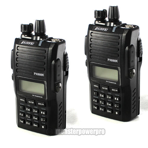 TWO! Professional PUXING PX888K Dual Band Radio UHF400-480MHZ/ VHF 136-174MHZ in Consumer Electronics, Radio Communication, Ham, Amateur Radio | eBay